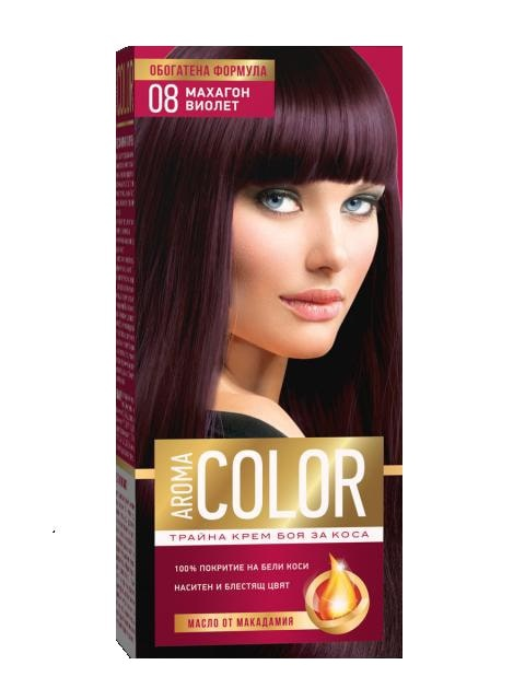 AROMA COLOR БОЯ ЗА КОСА 45МЛ AROMA COLOR БОЯ ЗА КОСА 08