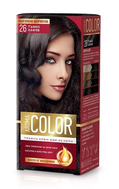 AROMA COLOR БОЯ ЗА КОСА 45МЛ AROMA COLOR БОЯ ЗА КОСА 26