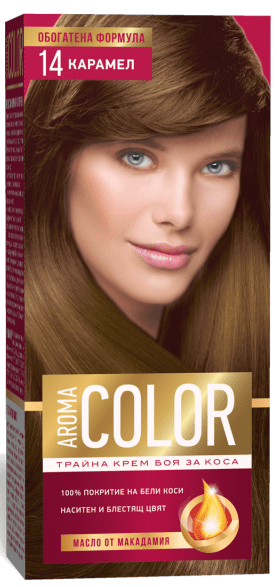 AROMA COLOR БОЯ ЗА КОСА 45МЛ AROMA COLOR БОЯ ЗА КОСА 14