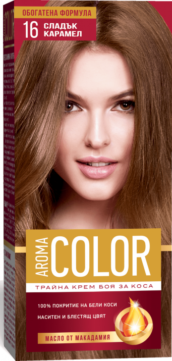 AROMA COLOR БОЯ ЗА КОСА 45МЛ AROMA COLOR БОЯ ЗА КОСА 16