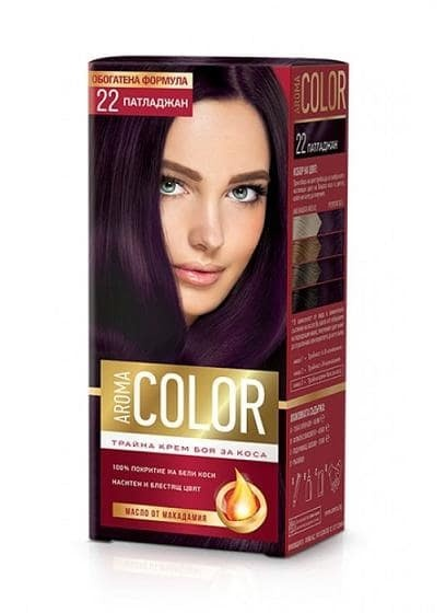 AROMA COLOR БОЯ ЗА КОСА 45МЛ AROMA COLOR БОЯ ЗА КОСА 22