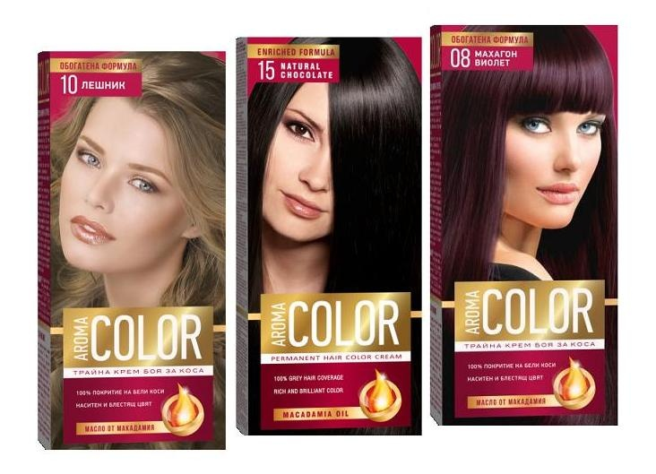 AROMA COLOR БОЯ ЗА КОСА 45МЛ