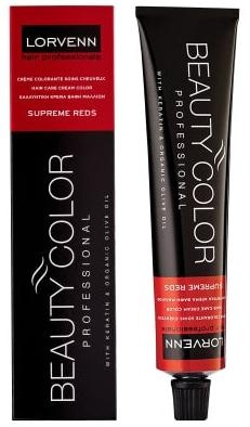 LORVENN КРЕМ БОЯ ЗА КОСА BEAUTY COLOR PROFESSIONAL SUPREME REDS 70МЛ