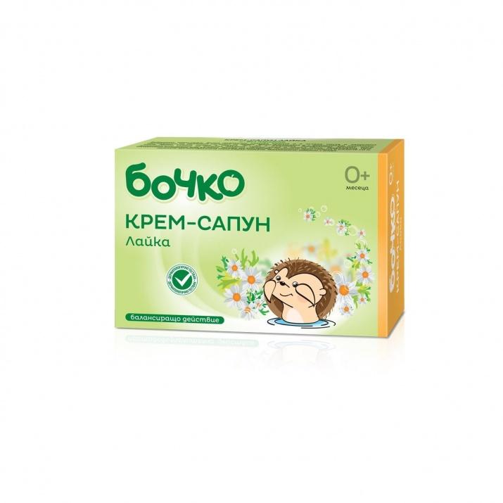 Бочко успокояващ бебешки билков сапун с лайка БОЧКО КРЕМ-САПУН БЕБЕШКИ С ЛАЙКА 75ГР