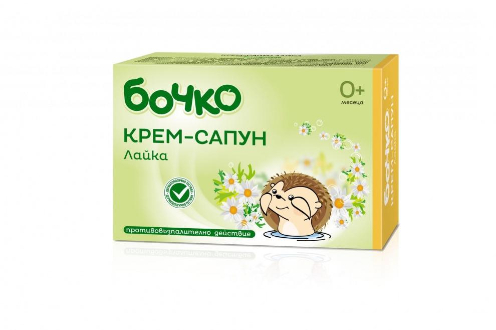 Бочко успокояващ бебешки билков сапун с лайка