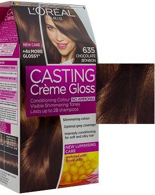 L'OREAL БОЯ ЗА КОСА CASTING CREME GLOSS L'oreal Casting Creme Gloss боя за коса, Вариант: 635 шоколадов бонбон
