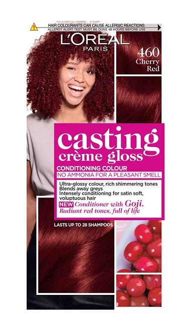 L'OREAL БОЯ ЗА КОСА CASTING CREME GLOSS L'OREAL CASTING CREME GLOSS БОЯ ЗА КОСА 460 CHERRY RED