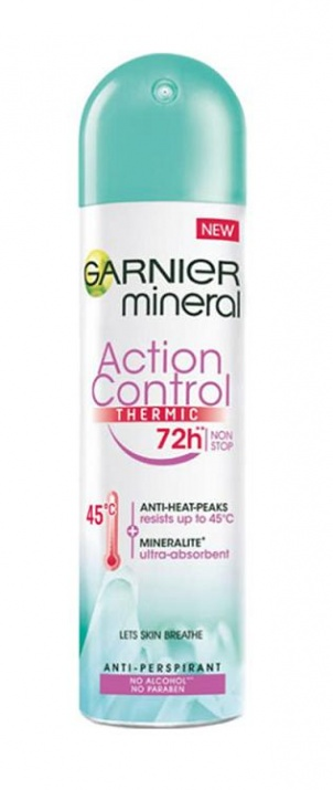 GARNIER ДЕЗОДОРАНТ MINERAL ЗА ЖЕНИ 150МЛ GARNIER ДЕЗОДОРАНТ MINERAL ACTION CONTROL THERMIC 72H ЗА ЖЕНИ 150МЛ