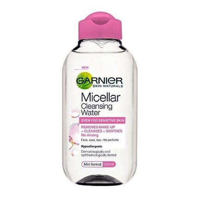 Garnier Essentials Micellar Cleansing Water мицеларна вода за почистване на лице GARNIER МИЦЕЛАРНА ВОДА ESSENTIALS MICELLAR CLEANSING WATER MINI 125МЛ
