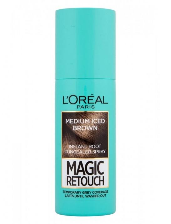 L`ORéAL MAGIC RETOUCH СПРЕЙ ОЦВЕТИТЕЛ ЗА БЕЛИ КОСИ 75МЛ L`ORéAL Magic Retouch спрей оцветител за бели коси, Вариант: medium iced brown