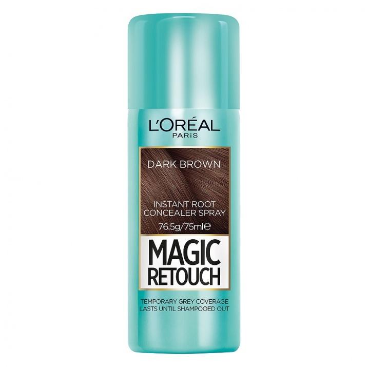 L`ORéAL MAGIC RETOUCH СПРЕЙ ОЦВЕТИТЕЛ ЗА БЕЛИ КОСИ 75МЛ L`ORéAL Magic Retouch спрей оцветител за бели коси, Вариант: dark brown
