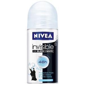 NIVEA РОЛ-ОН ЗА ЖЕНИ 50МЛ NIVEA РОЛ-ОН INVISIBLE FOR BLACK & WHITE PURE ЗА ЖЕНИ 50МЛ