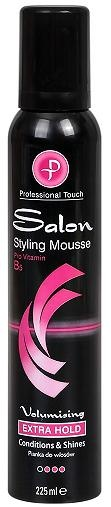 PROFESSIONAL TOUCH ПЯНА ЗА КОСА SALON STYLING MOUSSES EXTRA HOLD 225МЛ
