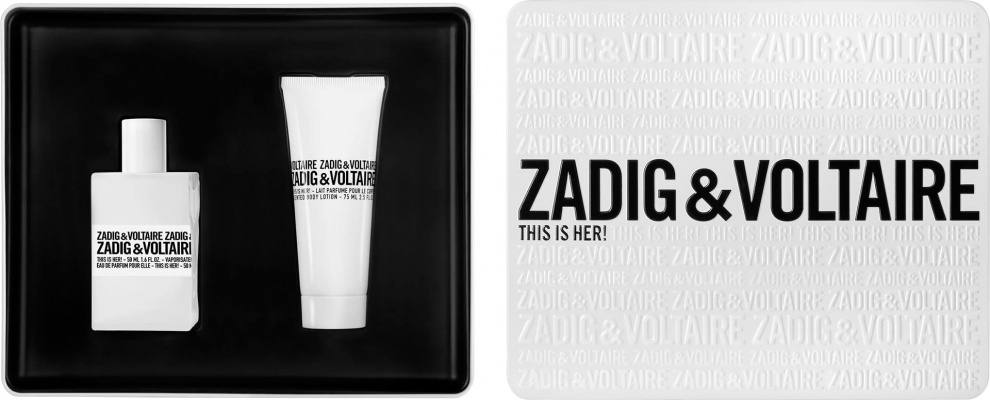 Zadig & Voltaire This is Her дамски комплект 50мл EDP + 75мл лосион за тяло
