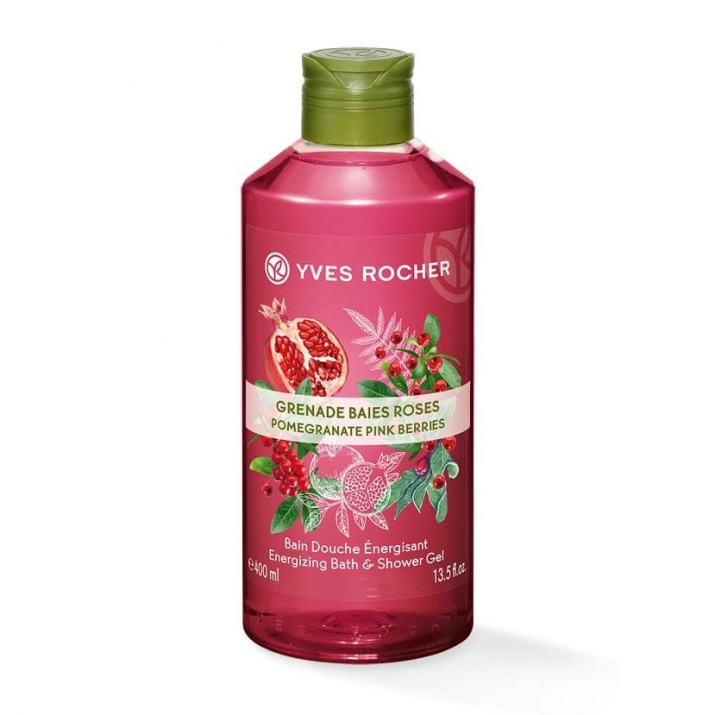 YVES ROCHER ДУШ ГЕЛ ЗА ТЯЛО 400МЛ YVES ROCHER ДУШ ГЕЛ 400МЛ POMEGRANATE PINK BERRIES