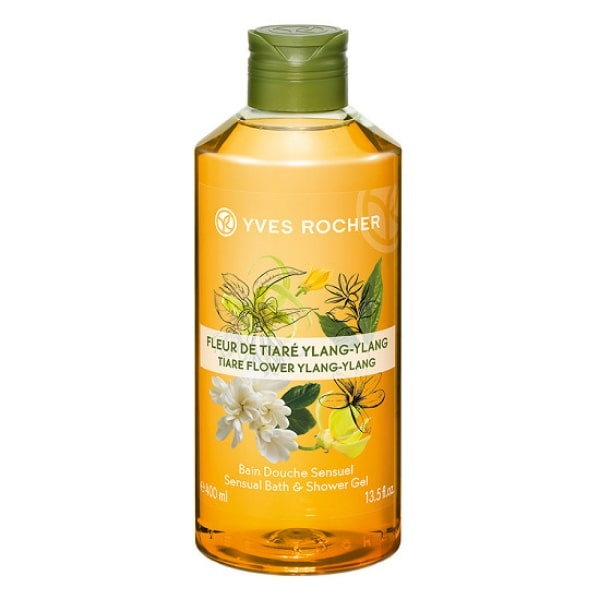 YVES ROCHER ДУШ ГЕЛ ЗА ТЯЛО 400МЛ YVES ROCHER ДУШ ГЕЛ 400МЛ TIARE FLOWER YLANG-YLANG