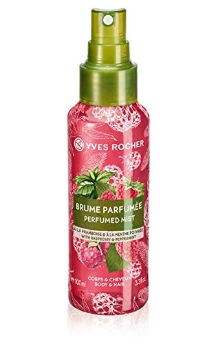YVES ROCHER СПРЕЙ МИСТ PERFUMED BODY AND HAIR MIST ЗА ЖЕНИ 100МЛ YVES ROCHER СПРЕЙ МИСТ ЗА КОСА И ТЯЛО RASPBERRY PEPPERMINT 100МЛ