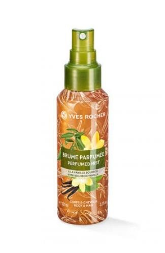 YVES ROCHER СПРЕЙ МИСТ PERFUMED BODY AND HAIR MIST ЗА ЖЕНИ 100МЛ YVES ROCHER СПРЕЙ МИСТ ЗА КОСА И ТЯЛО BOURBON VANILLA 100МЛ