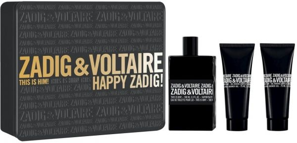 ZADIG & VOLTAIRE THIS IS HIM КОМПЛЕКТ ЗА МЪЖЕ ТОАЛЕТНА ВОДА 50МЛ + 2БР ДУШ ГЕЛ 50МЛ