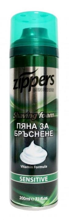 ZIPPERS ПЯНА ЗА БРЪСНЕНЕ SENSITIVE ЗА МЪЖЕ200МЛ